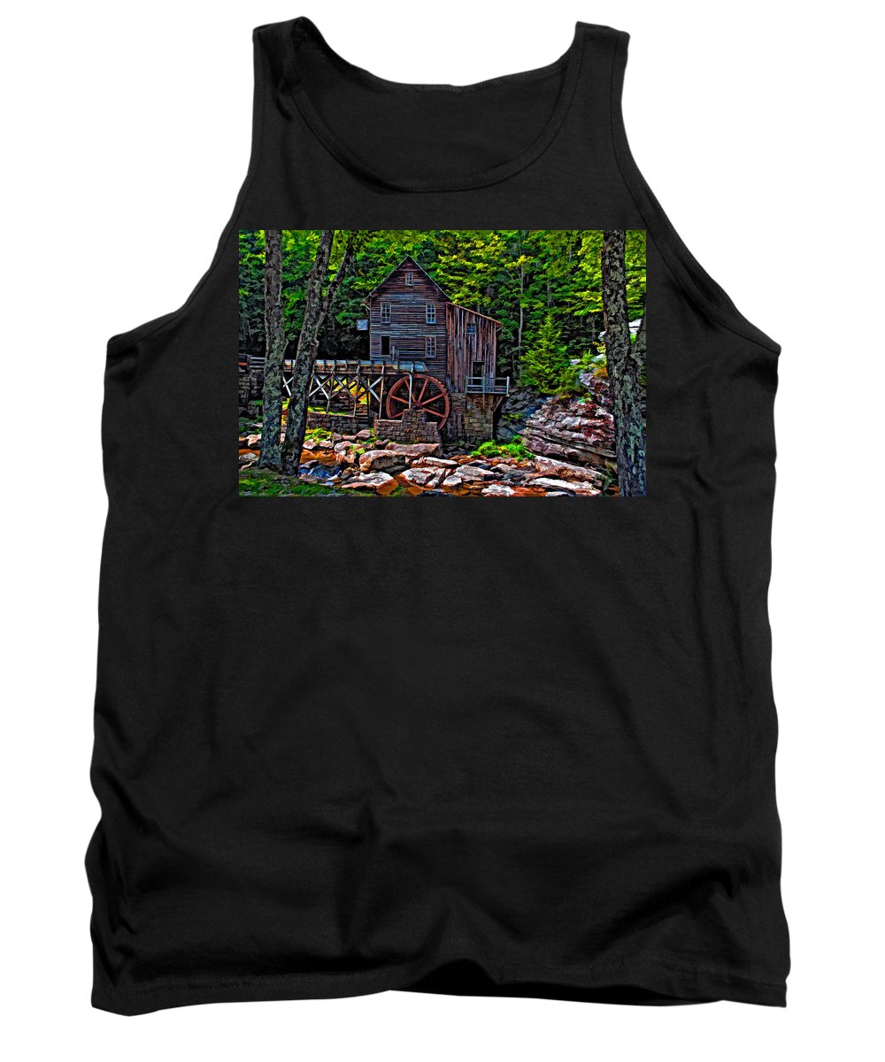 West Virginia Tank Top featuring the photograph Babcock State Park Paint by Steve Harrington
