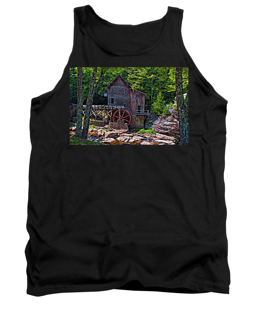 West Virginia Tank Top featuring the photograph Babcock State Park by Steve Harrington
