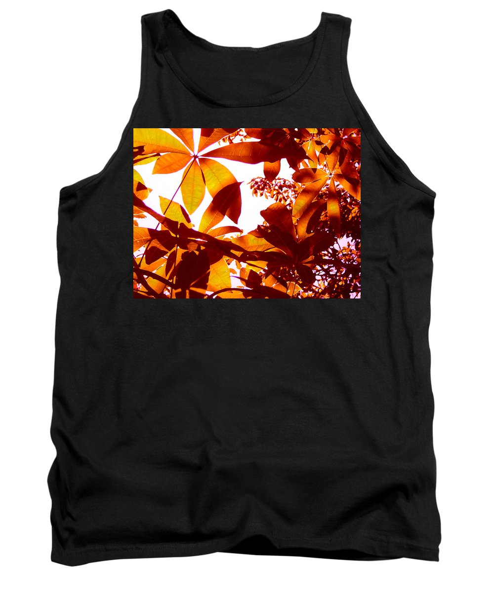 Garden Tank Top featuring the painting Backlit Tree Leaves 2 by Amy Vangsgard