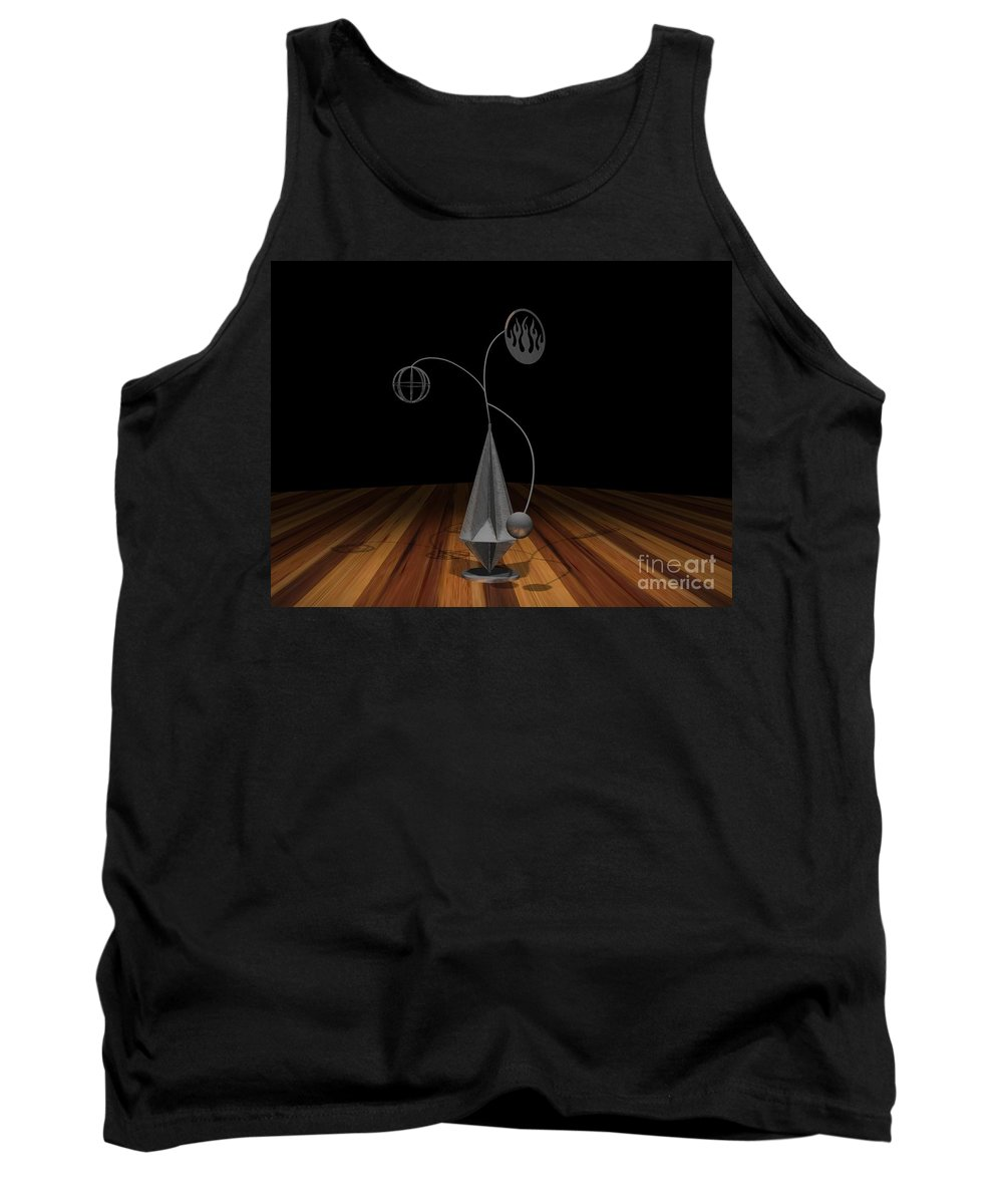Concept Tank Top featuring the photograph Balancing Flame V2 by Peter Piatt