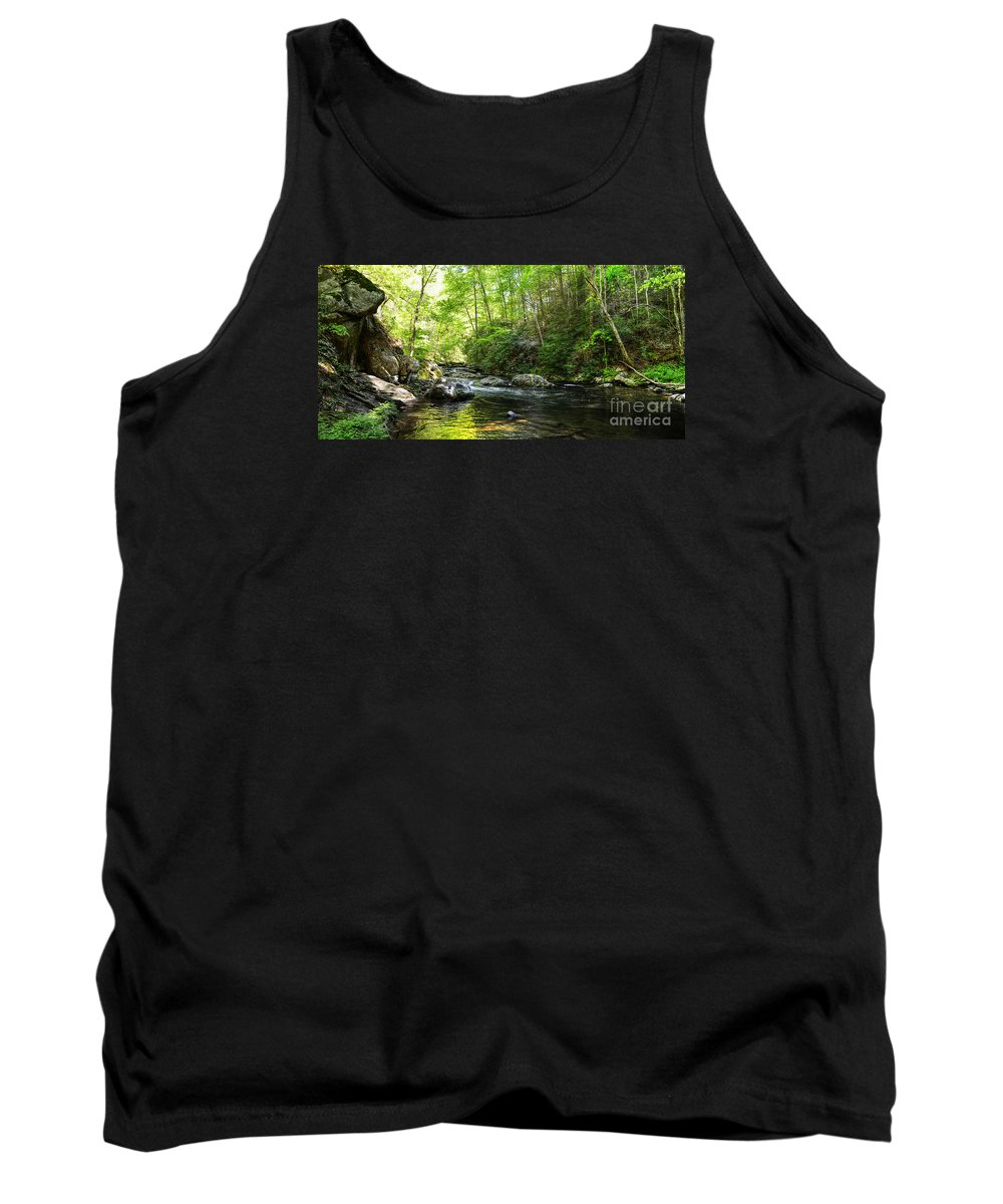 Hdr Tank Top featuring the photograph Bald River by Paul Mashburn