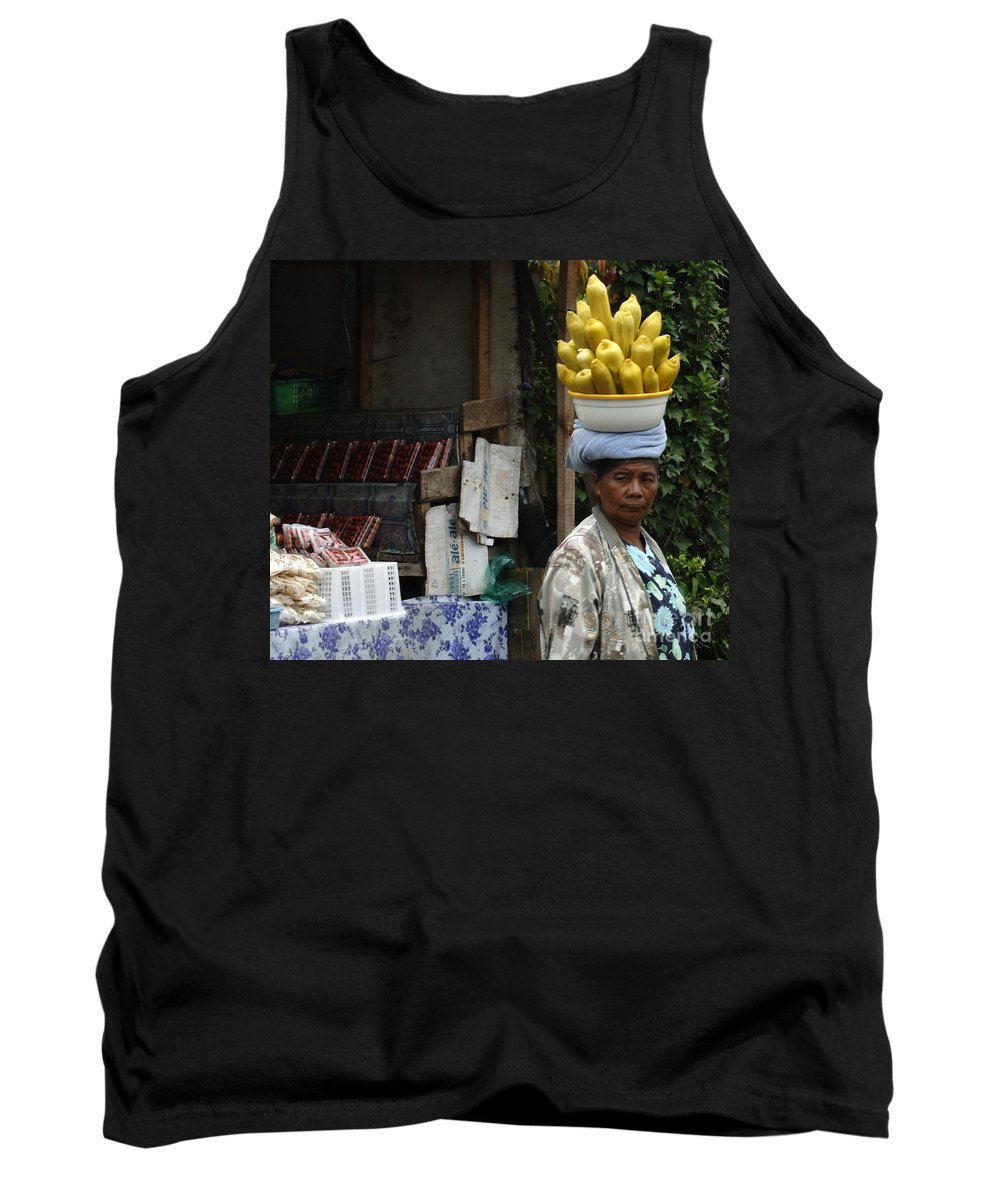 Bali Tank Top featuring the photograph Bali Indonesia Proud People 2 by Bob Christopher