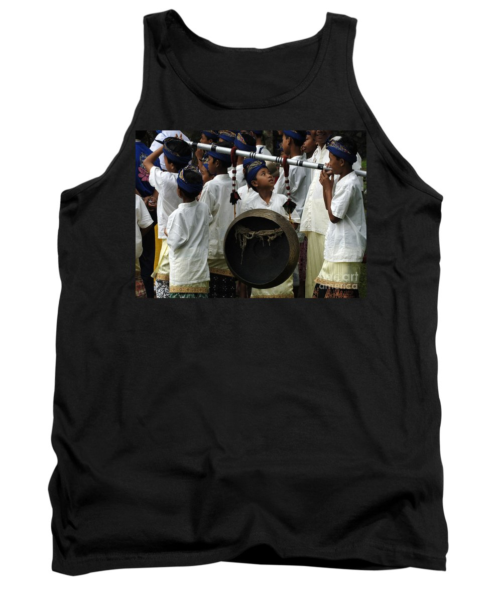Bali Tank Top featuring the photograph Bali Indonesia Proud People 4 by Bob Christopher