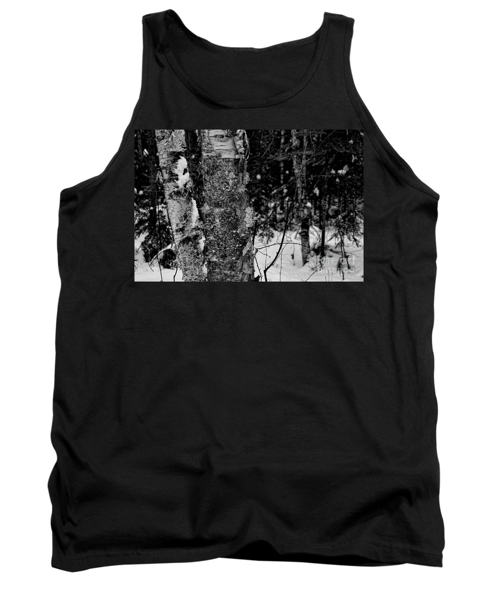 Bark Tank Top featuring the photograph Bark And Trees In Winter by David Arment