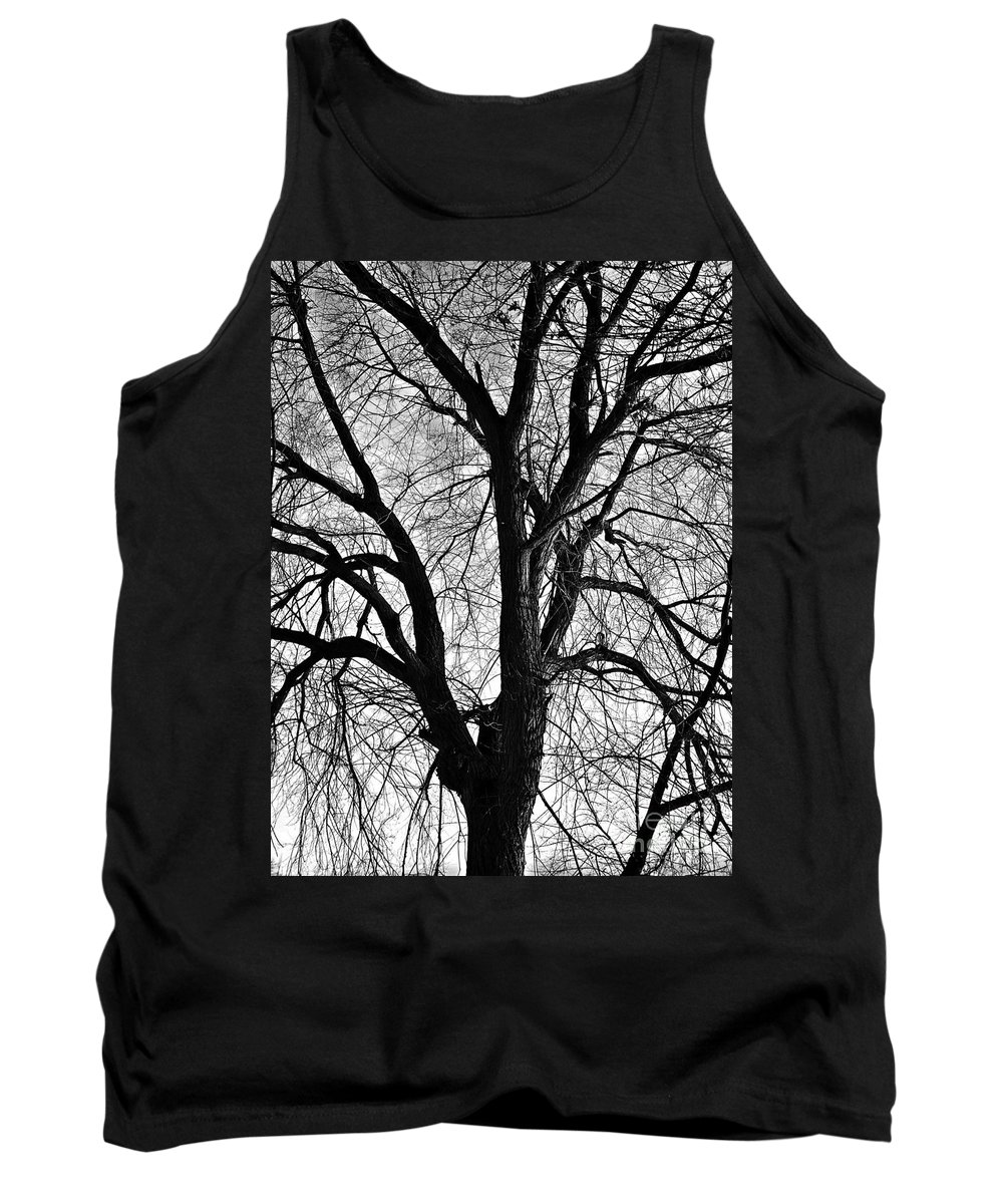 Barren 2 Bw Tank Top featuring the photograph Barren 2 Bw by Chalet Roome-Rigdon