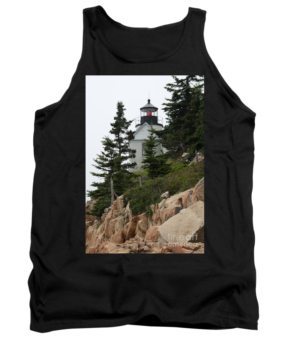Bass Harbor Lighthouse Tank Top featuring the photograph Bass Harbor Lighthouse by Christiane Schulze Art And Photography