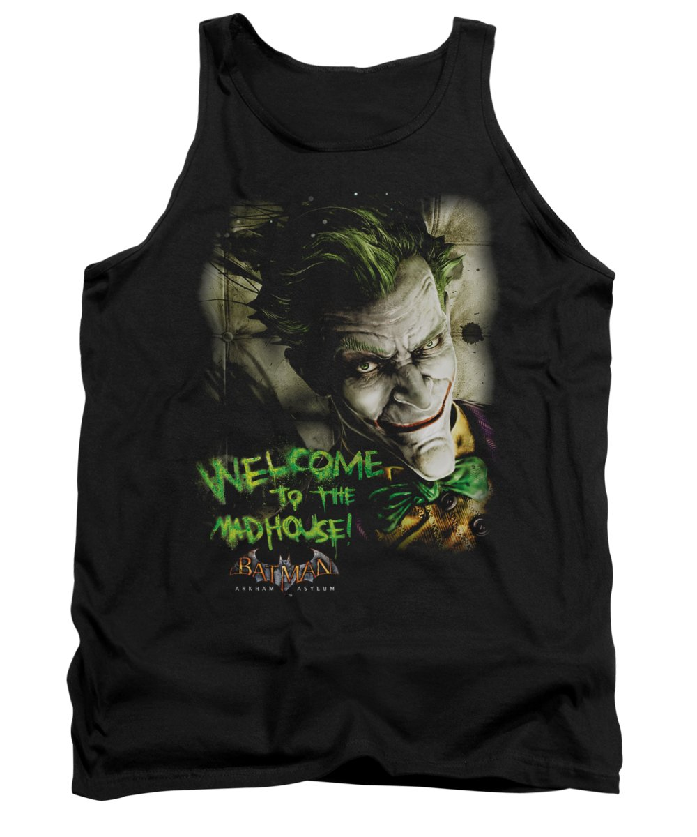 Arkham Asylum Tank Top featuring the digital art Batman Aa - Welcome To The Madhouse by Brand A