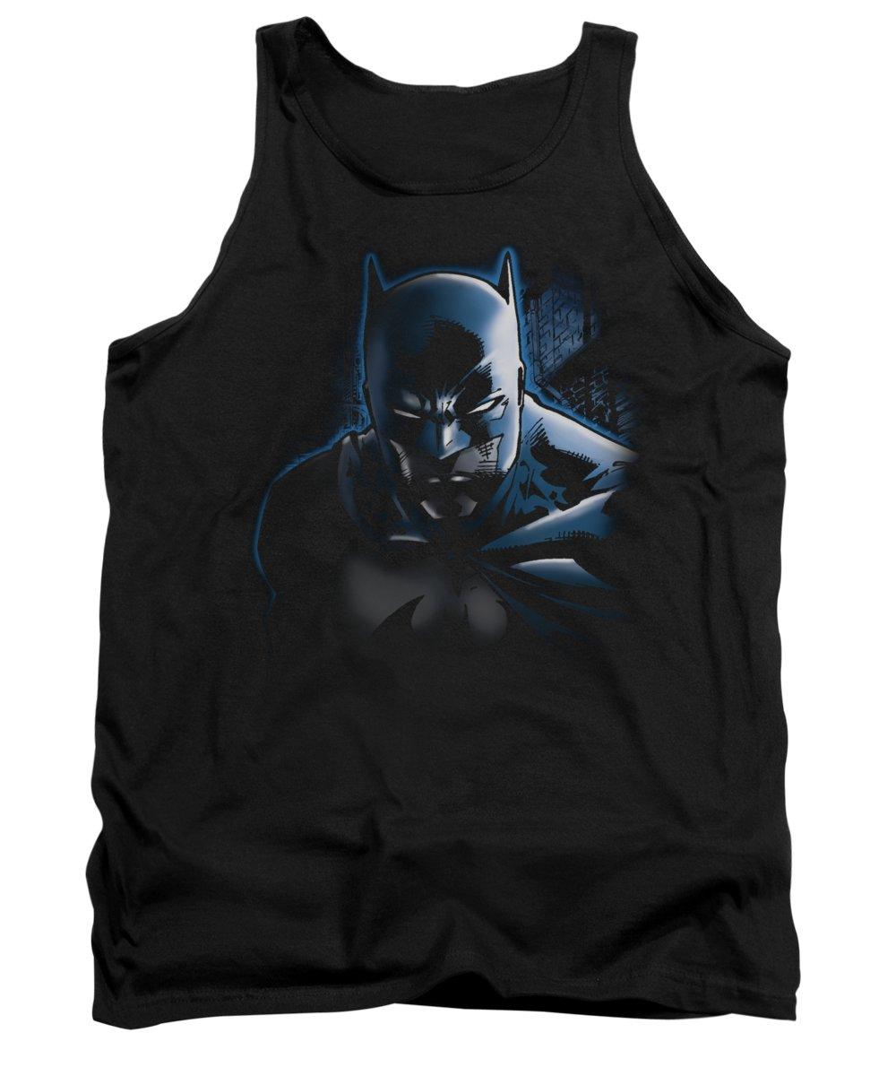 Batman Tank Top featuring the digital art Batman - Don't Mess With The Bat by Brand A