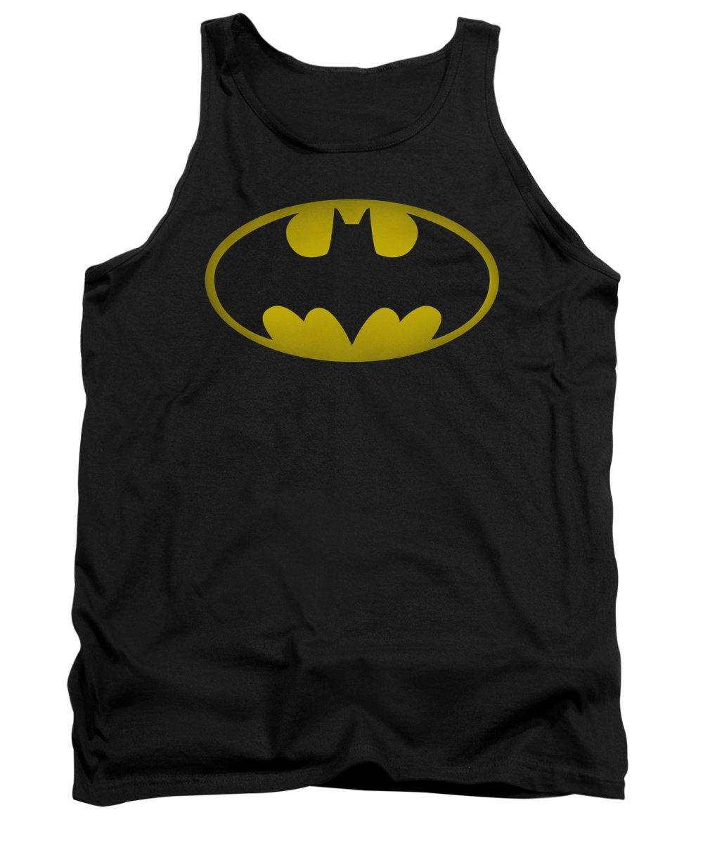 Batman Tank Top featuring the digital art Batman - Washed Bat Logo by Brand A