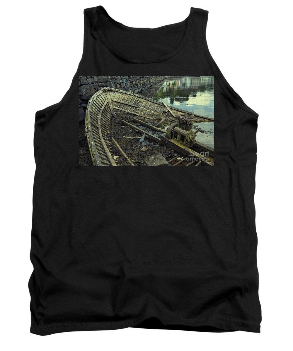 Boat Tank Top featuring the photograph Battered Boat by Rob Hawkins