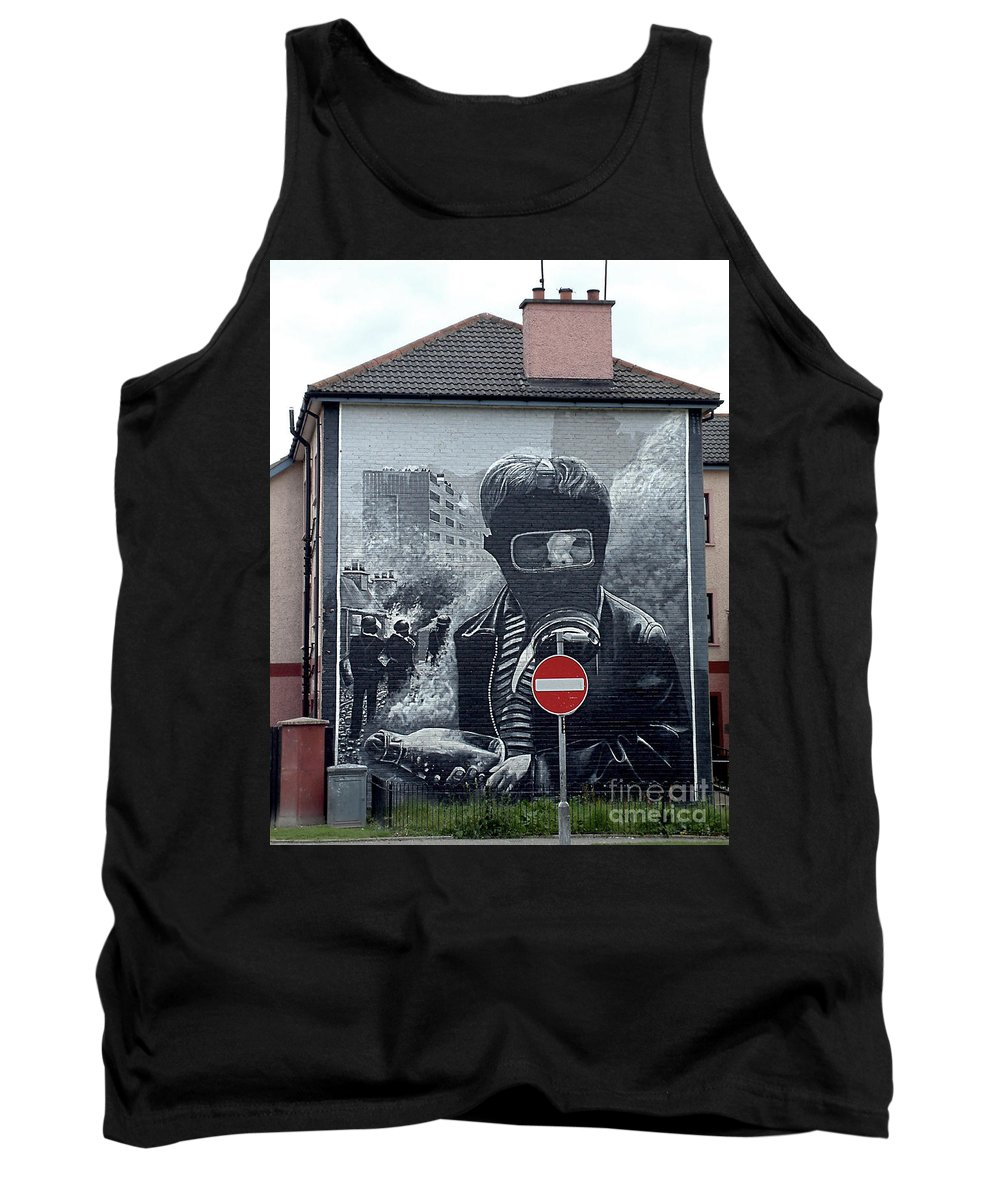 Battle Of Bogside Tank Top featuring the photograph Battle Of The Bogside Mural IIi by Nina Ficur Feenan