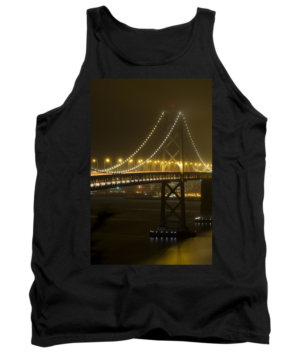 San Francisco Tank Top featuring the photograph Bay Bridge Fog by Bryant Coffey