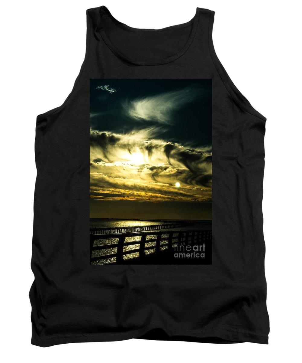 Chesapeake Tank Top featuring the photograph Bay Bridge Sunset by Angela DeFrias