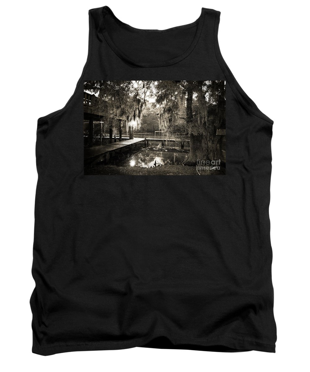 Swamp Tank Top featuring the photograph Bayou Evening by Scott Pellegrin