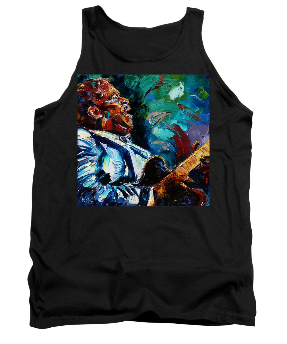 Musicians Tank Top featuring the painting Bb King by Debra Hurd