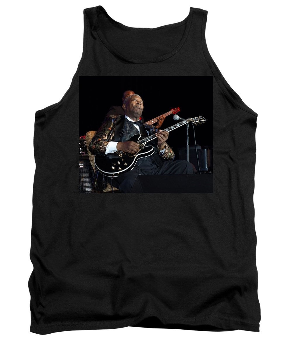 B.b. King Tank Top featuring the photograph B.b. King by William Morgan