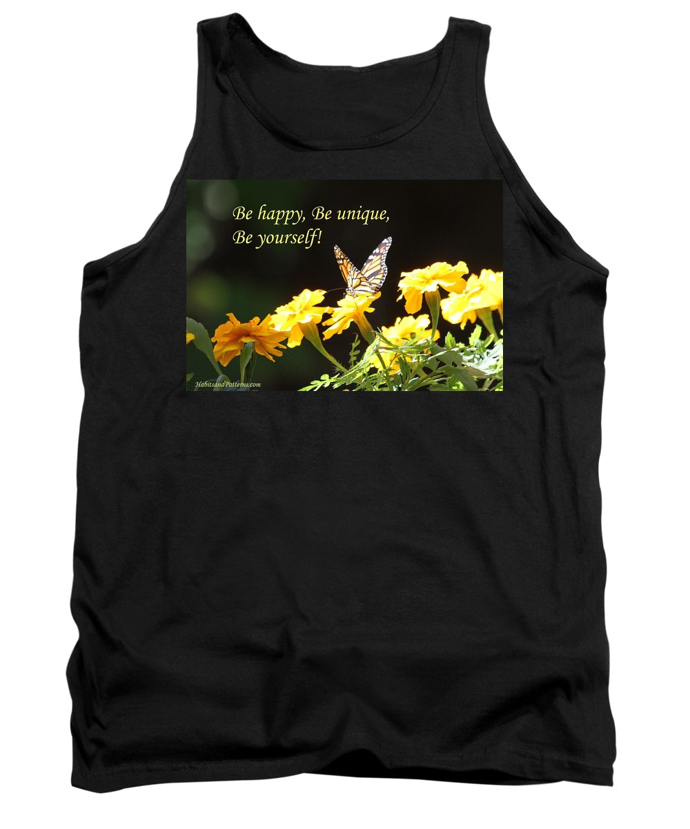 Habits And Patterns Tank Top featuring the photograph Be Happy by Pharaoh Martin