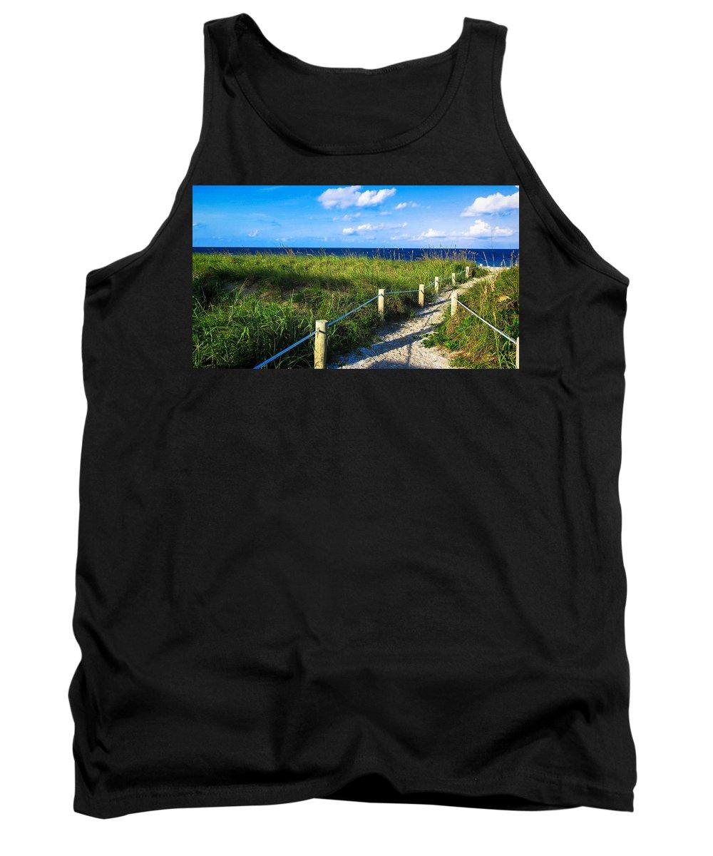 Beach Tank Top featuring the photograph Beach Path by Dulce Levitz