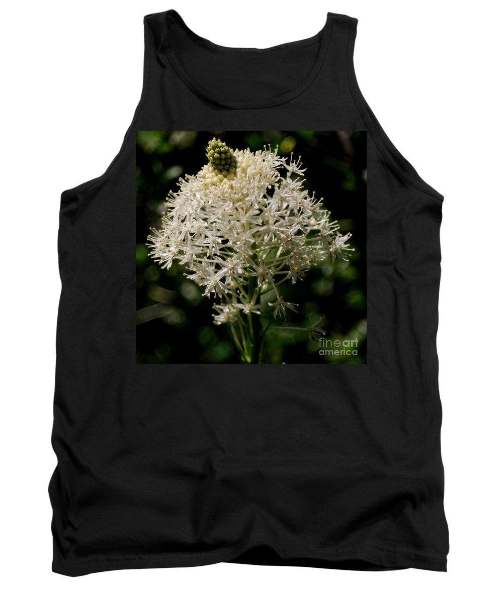 Bear Grass Tank Top featuring the photograph Beargrass Bloom by Sharon Elliott