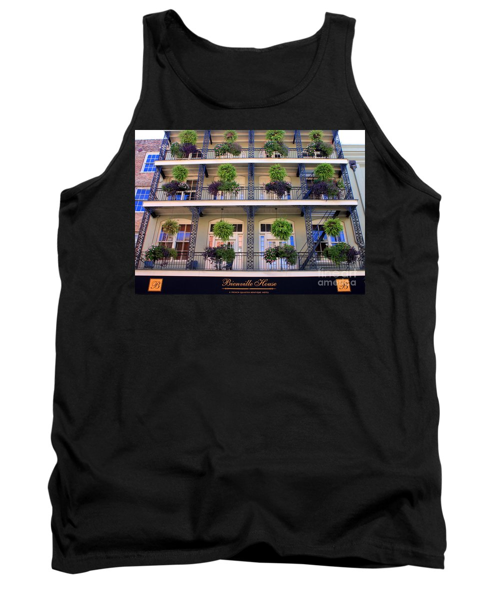 New Orleans Tank Top featuring the photograph Beautiful Hotel In New Orleans by Carol Groenen