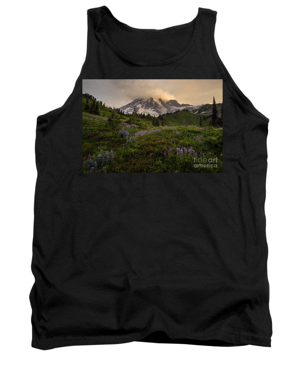 Rainier Tank Top featuring the photograph Beautiful Rainier Wildflower Meadows by Mike Reid