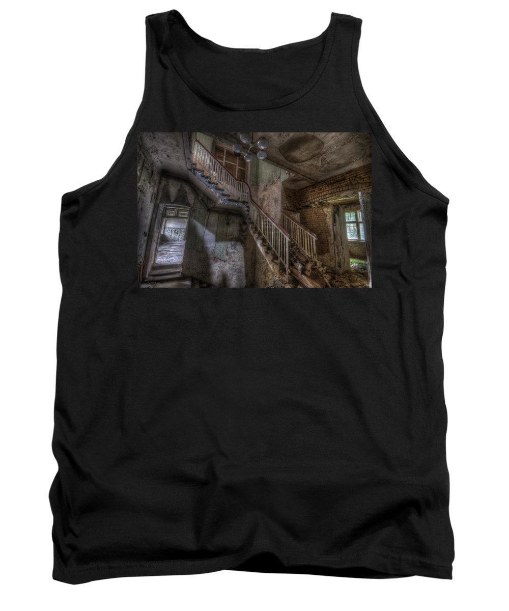 German Tank Top featuring the digital art Beautiful Stairs by Nathan Wright