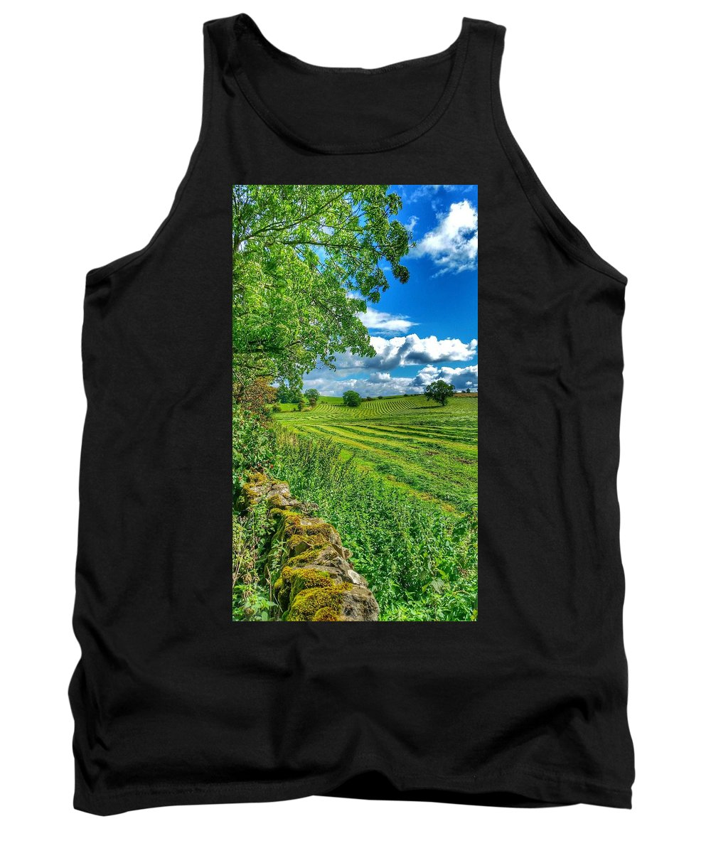 Landscape Tank Top featuring the photograph Summer View In Yorkshire by Paul Fox