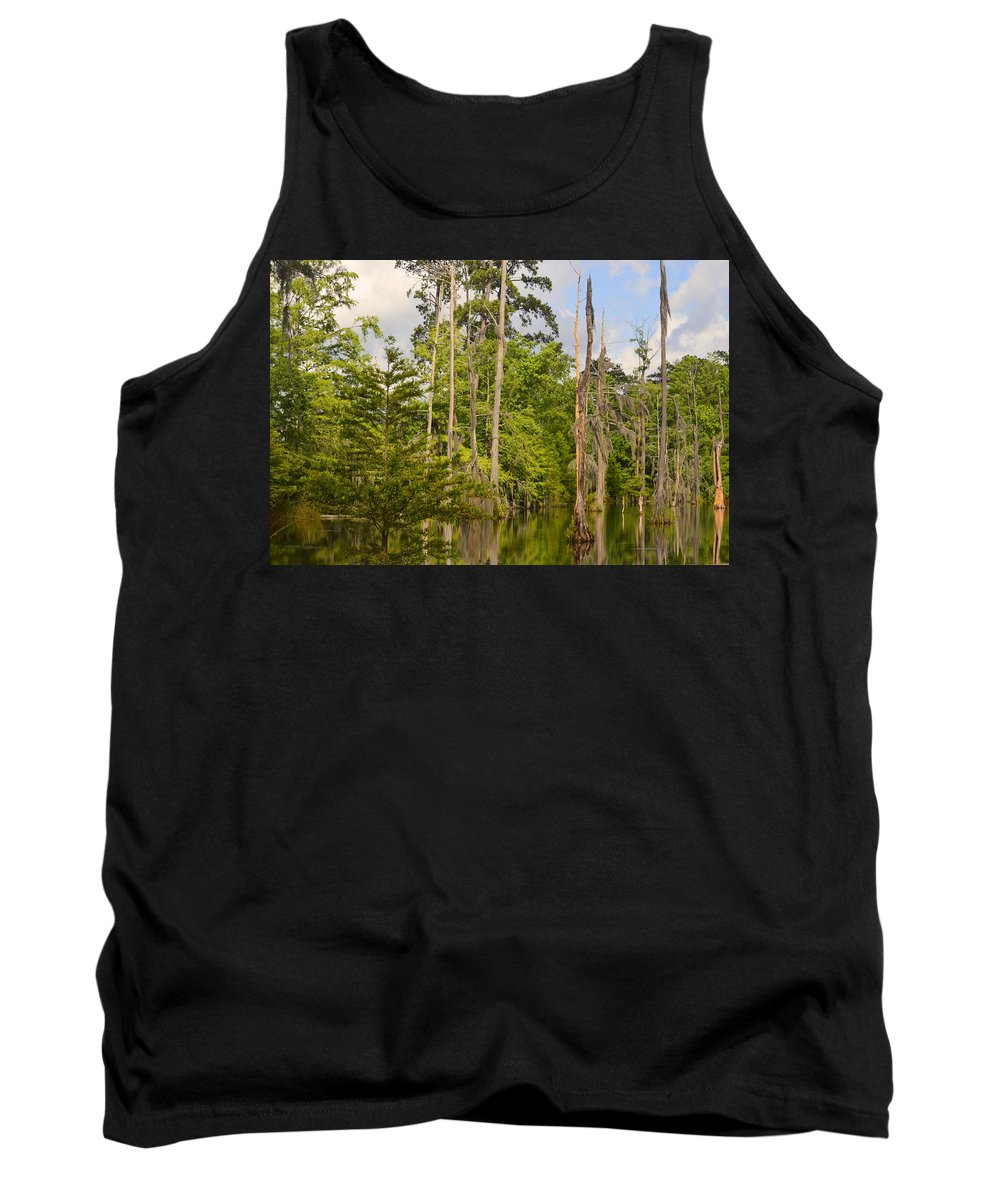 Trees Tank Top featuring the photograph Beauty In A Swamp by Leticia Latocki