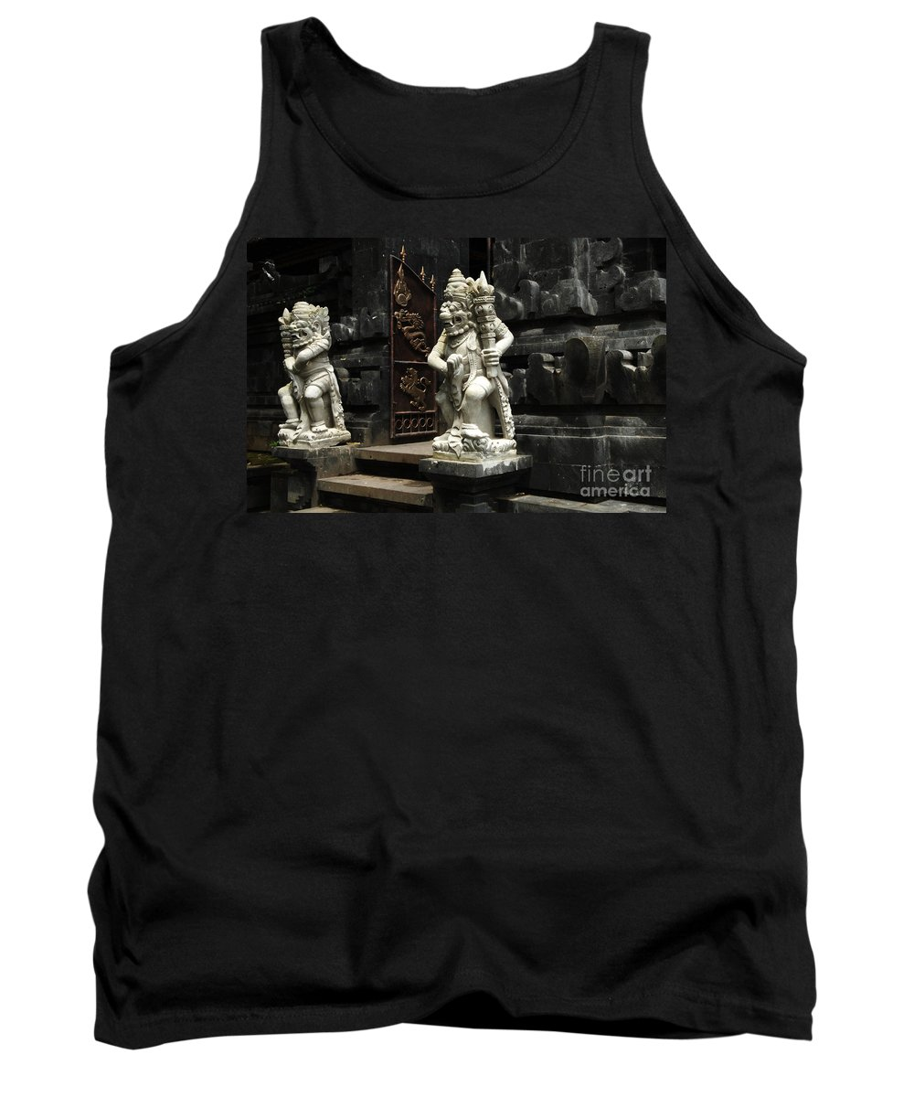 Bali Tank Top featuring the photograph Beauty Of Bali Indonesia Statues 1 by Bob Christopher