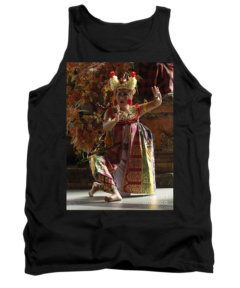 Barong Dancer Tank Top featuring the photograph Beauty Of The Barong Dance 3 by Bob Christopher