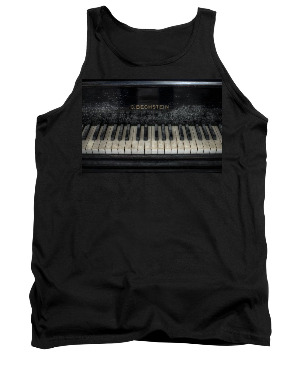 Urebx Tank Top featuring the digital art Bechstein Keys by Nathan Wright