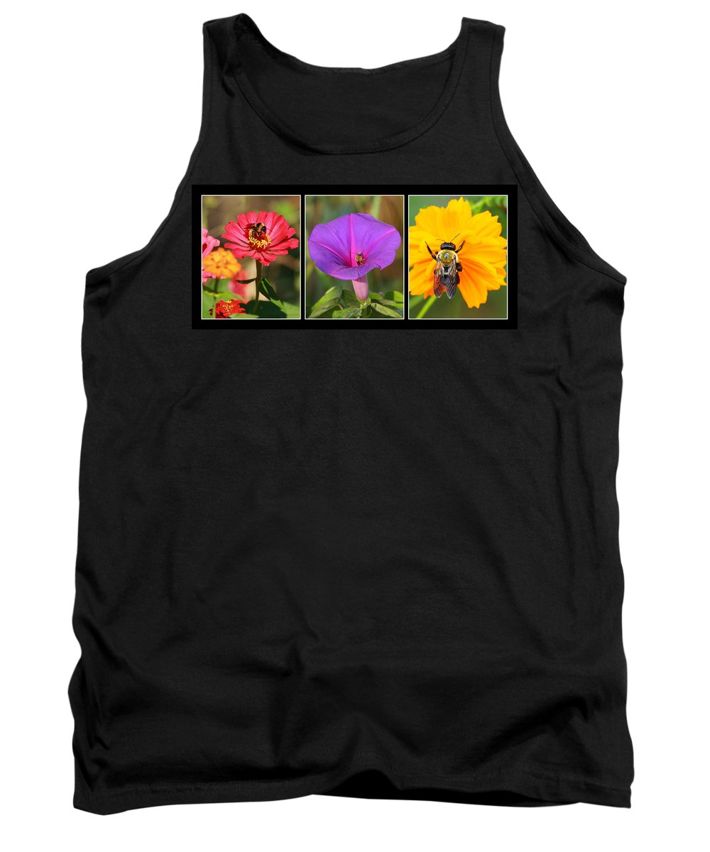 Bee Tank Top featuring the photograph Bee Triptych by Andrew McInnes