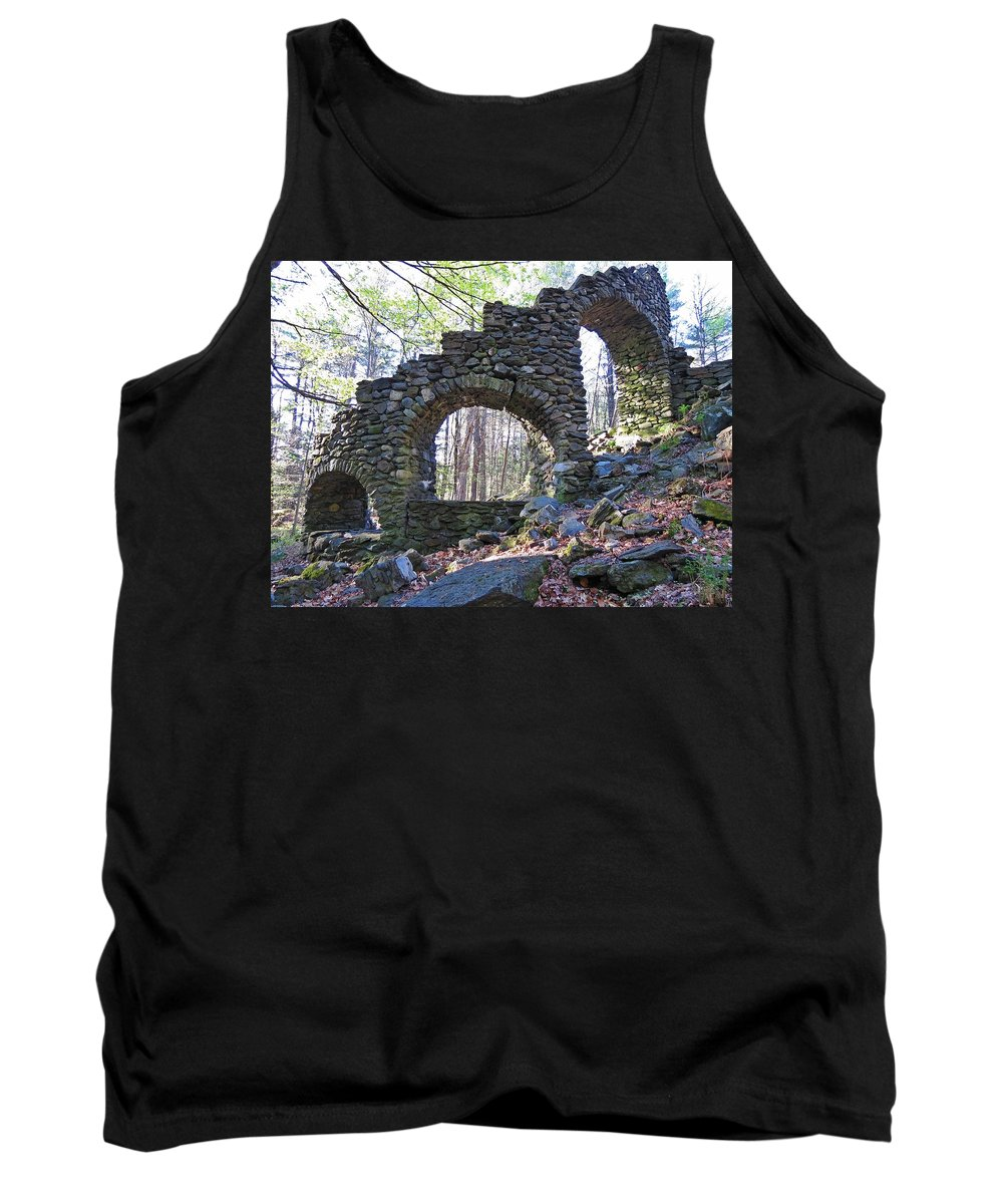 Castle Ruins Tank Top featuring the photograph Behind The Stairs by MTBobbins Photography