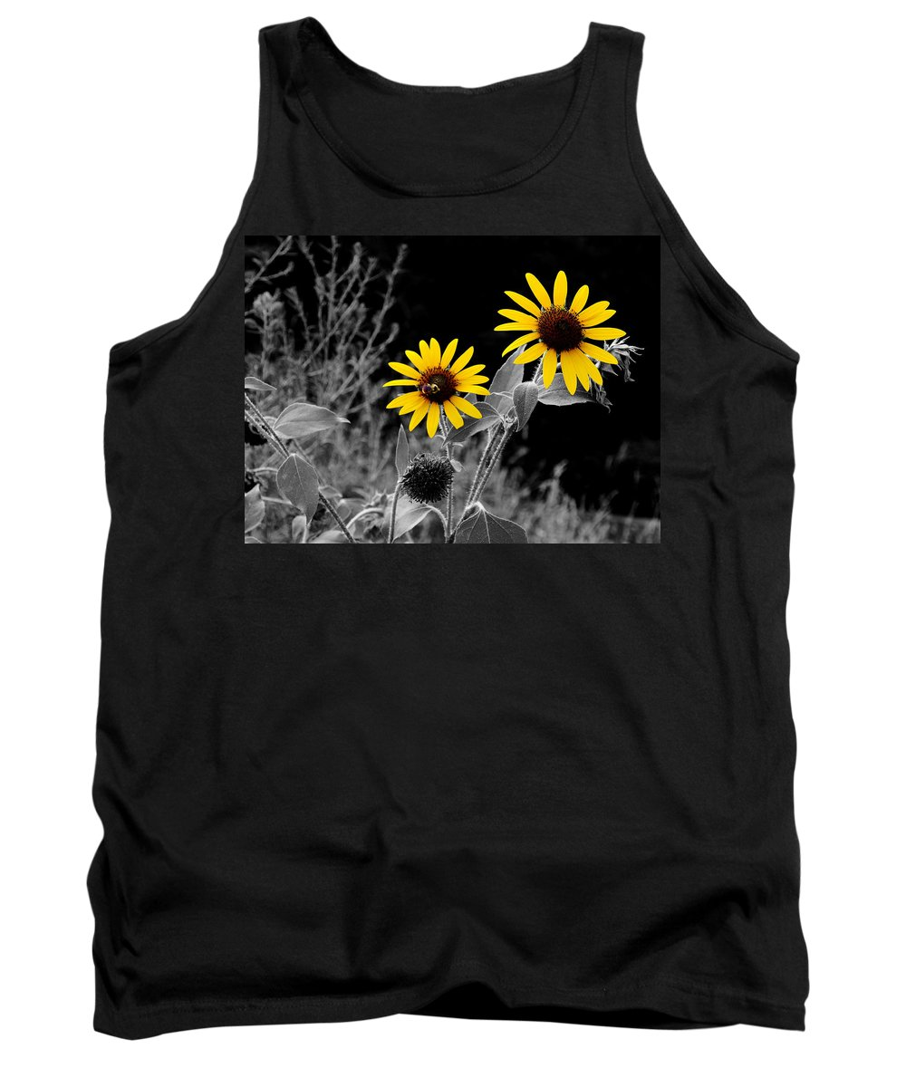 Sunflower Tank Top featuring the photograph Being Busy by David Pantuso