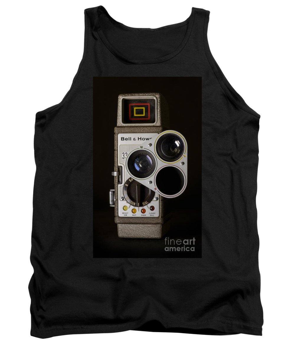 Bell And Howell 333 Tank Top featuring the photograph Bell And Howell 333 Movie Camera by Art Whitton