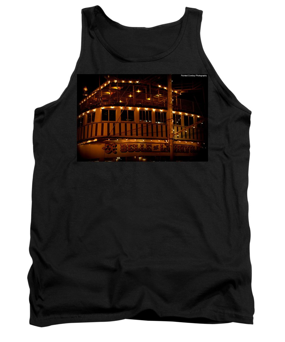 Boat Tank Top featuring the photograph Belle Of Louisville Shine by Daniel Jakus