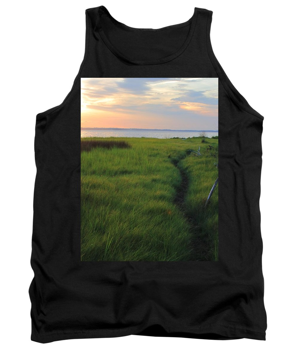 James River Tank Top featuring the photograph Beside The James by Jeff Heimlich