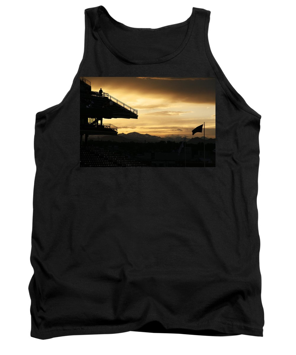 Americana Tank Top featuring the photograph Best View Of All - Rockies Stadium by Marilyn Hunt