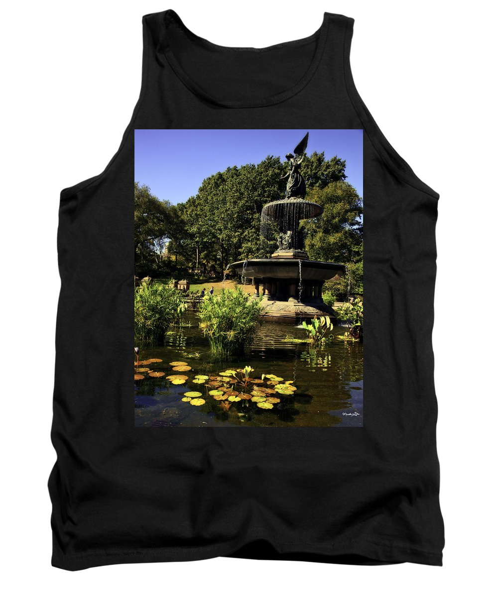 Bethesda Fountain Tank Top featuring the photograph Bethesda Fountain - Central Park 2 by Madeline Ellis
