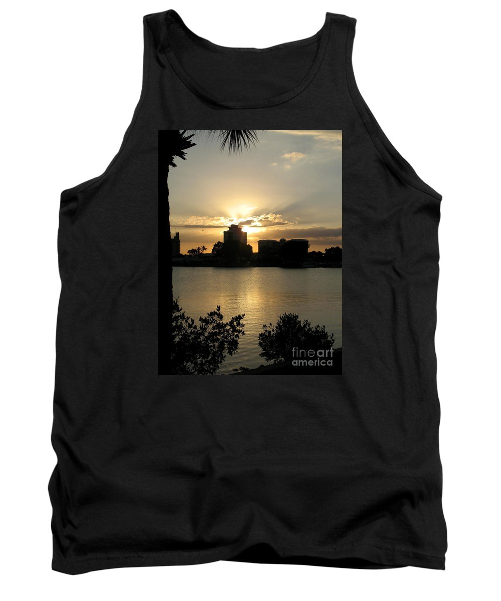 Sunset Tank Top featuring the photograph Between Day And Night by Christiane Schulze Art And Photography