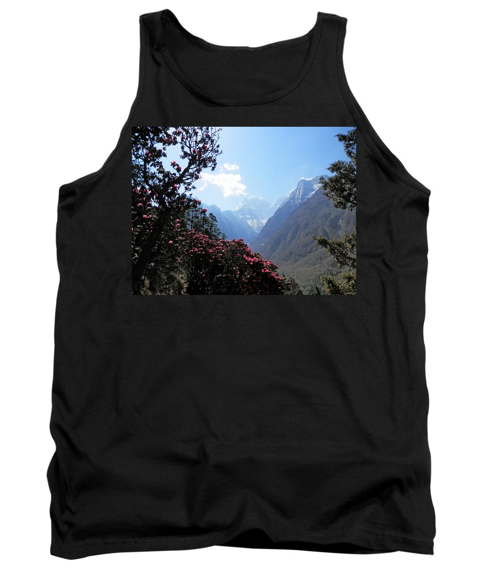 Rhododendrons Tank Top featuring the photograph Beyond The Rhododendrons 2 by Pema Hou