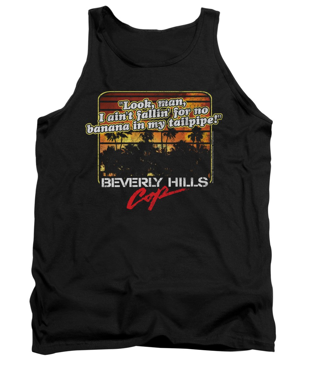 Beverly Hills Cop Tank Top featuring the digital art Bhc - Banana In My Tailpipe by Brand A