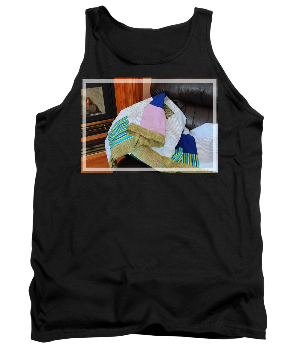 Big Blocks Patchwork Quilt Tank Top featuring the photograph Big Blocks Patchwork Quilt by Barbara Griffin