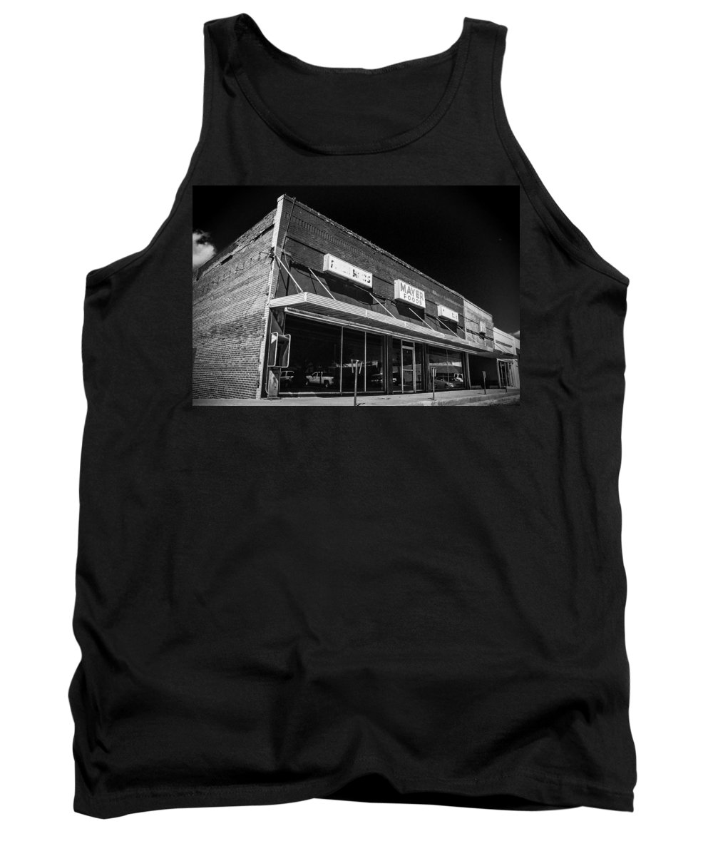 Grocery Tank Top featuring the photograph Big Box Casualty by Jeff Mize