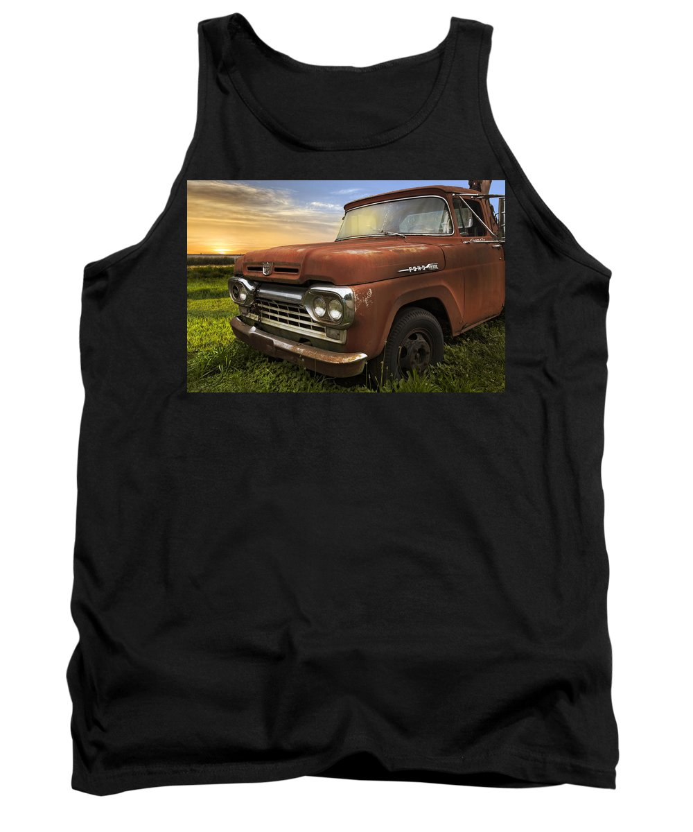Appalachia Tank Top featuring the photograph Big Red Ford by Debra and Dave Vanderlaan