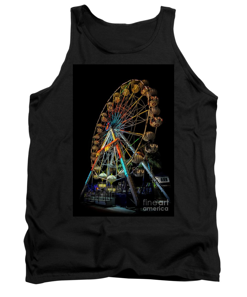 Hdr Tank Top featuring the photograph Big Wheel by Adrian Evans