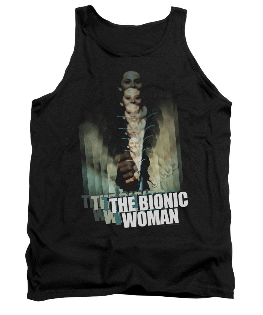 Bionic Woman Tank Top featuring the digital art Bionic Woman - Motion Blur by Brand A