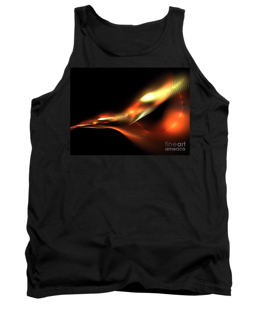 Apophysis Tank Top featuring the digital art Bird by Kim Sy Ok