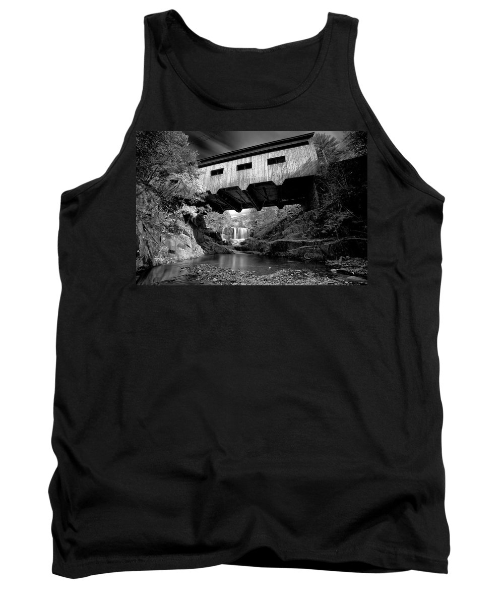 B&w Tank Top featuring the photograph Bissell Bridge by Ed Boudreau