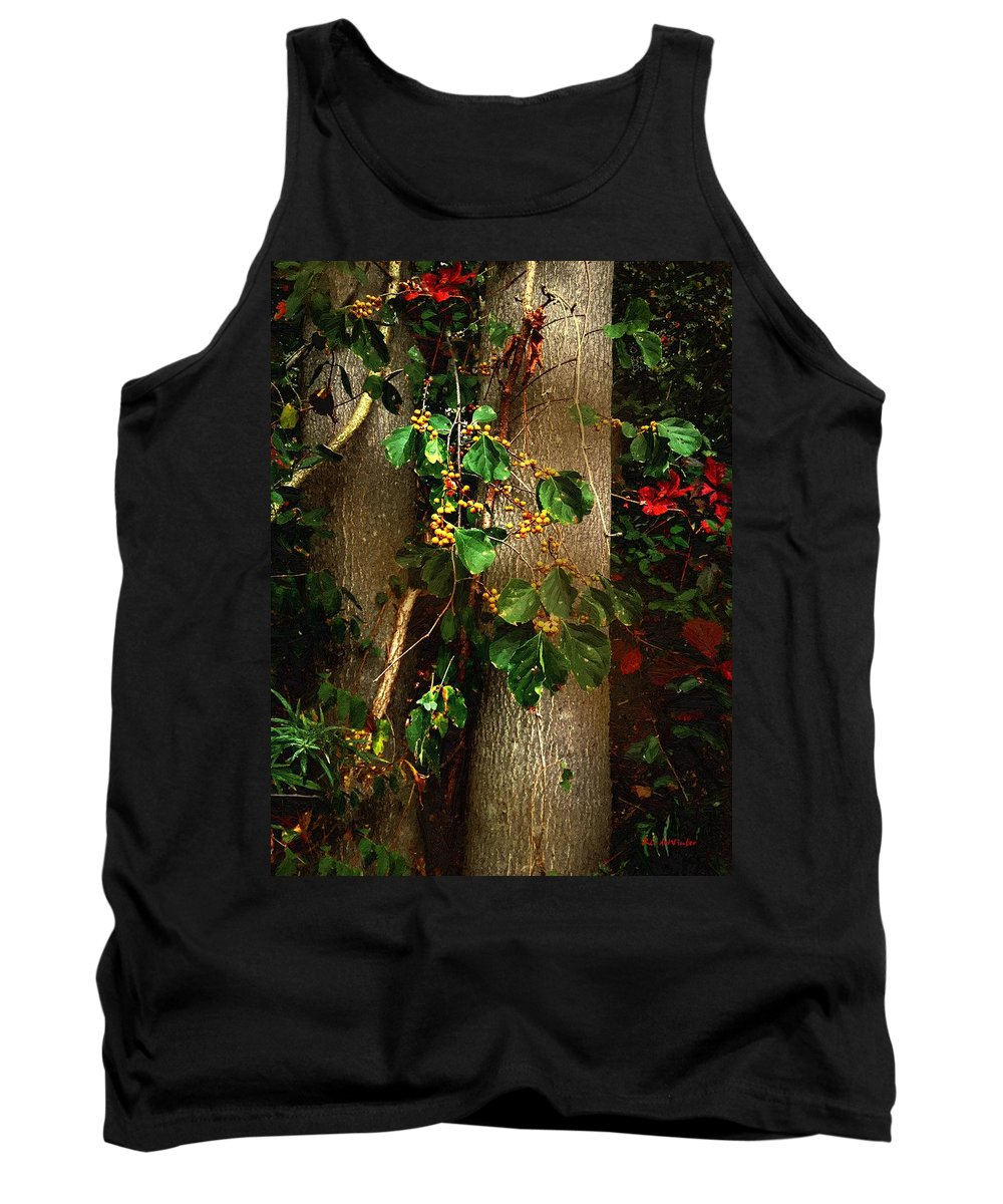 Trees Tank Top featuring the painting Bittersweet Autumn by RC DeWinter